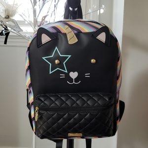 Betsey Johnson cat unicorn backpack